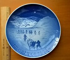 "B&G  Bing & Grondahl  1972 ""Christmas in Greenland"" Porcelain Plate 8000/9072"