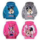 Mickey Minnie Mouse Boys Girls Hoodies Cotton Clothes Sweatshirt Kids Gifts 2-7Y