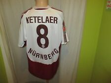 "1.FC Nürnberg Adidas Trikot 2005/06 ""mister+ lady jeans"" + Nr.8 Ketelaer Gr.L"