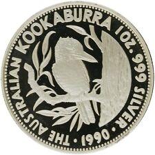 Australia - Silver 5 Dollar Coin -1 Oz. - 'Australian Kookaburra' - 1990 - Proof