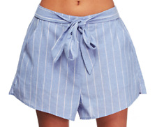 Staple The Label Alexa Short **NEW W TAGS $90** white pinstripe 8-12 Belted high