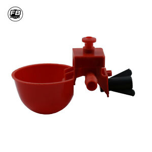 Poultry Water Drinking Cups -- Chicken/Quail Plastic Automatic Drinker
