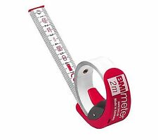 BMI 429341021 Measuring Tape With Stopbelt Clip Redwhite 3 M X 16 Mm