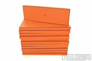 HERMES Original Orange Empty Scarf Socks Tie Luxury Gift Box - 14.75 x 4.875 x 1