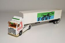 1:50 SCANIA 143M TRUCK WITH TRAILER FORT KRUIWAGENS B.V. EXCELLENT REPAINT