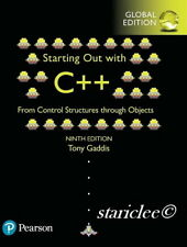 NEW Starting Out with C++ From Control Structures Through Objects 9E Tony Gaddis