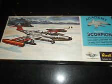 Vintage Revell Northrop F89D Scorpion 1/77th Model Kit.1961 boxing. Complete