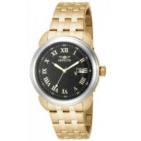 Invicta 16184 Men's Specialty Black Dial Gold Plated Steel Bracelet Date Watch