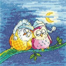 Heritage Crafts Night Owls Counted Cross Stitch Kit Birds of a Feather