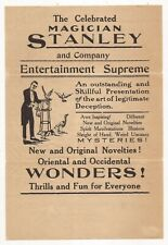 The Celebrated Magician Stanley And Company Broadside - Guy
