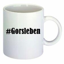 Kaffeetasse #Gorsleben Hashtag Raute Keramik Höhe 9,5cm in Weiß