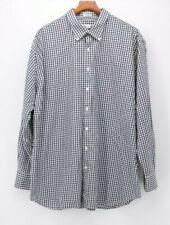 Peter Millar Men's 2XL XXL Navy White Check  L/S Button Down Shirt euc