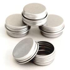 50 x 5ml Empty Cosmetic Pots Lip Balm candle Screw lid Jar Aluminium Tins jda50