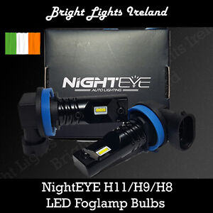 H11 LED Car bulbs. HID White 6500k NightEYE  Spotlamp lights