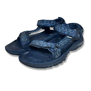 Teva Mens Blue Black 4134 Terra Fi 5 Hook And Loop Sports Sandal Size 10