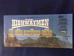 The Highwaymen, Johnny Cash Concert ticket stub 1992