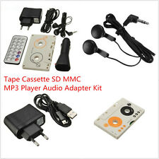 Car Telecontrol Tape Cassette SD MMC MP3 Player Audio Adapter Remote Control Kit