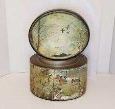 Vintage Porcelain Tobacco Humidor Men's Gift Dad Husband Office Outdoors Mallard