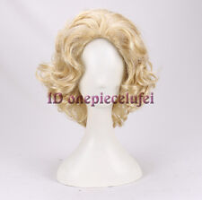 Marilyn Monroe Fashion Party Short Curly Wigs halloween Hair Daily wig+a wig cap