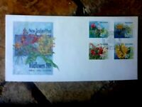1989 NEW ZEALAND WILDFLOWERS  SET OF 4  FIRST DAY COVER