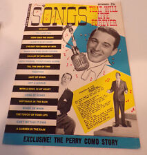 November 1953 SONGS THAT WILL LIVE FOREVER Music Magazine PERRY COMO Cover