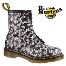 Dr. Martens 1460w Black Noir Mini Tydee Leather BOOTS Size UK 9