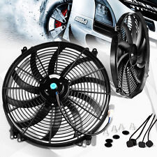 "Universal 16"" Inch 12V Slim Fan Push Pull Electric Radiator Cooling Fan"