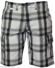 Cotton Check Cargo, Combat Shorts for Men