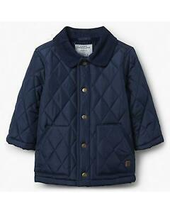 Janie & Jack 2018 Fall - Navy Blue Boys Quilted Jacket - Size 10-12 RP $89 NWT