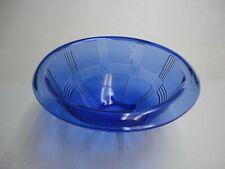 "Vintage Blue Hazel Atlas Criss Cross Mixing Bowl 9"""