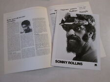 Sonny Rollins Press Kit For 1976 Lp Album The Way I Feel Jazz Tenor Saxophonist