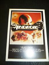 ANDROID, film card [Klaus Kinski, Don Opper]