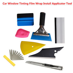 8pcs Squeegee Auto Car Window Tinting Film Wrapping Install Applicator Tools Kit
