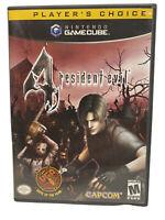 Resident Evil 4 Nintendo GameCube Complete Manual Nice Disks
