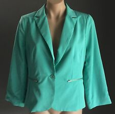 NWOT DOTTI Mint Crop Blazer / Jacket Mint Colour w zipped pockets Size 14