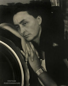 1933 ALFRED STIEGLITZ 16X20 Vintage PHOTO GRAVURE Georgie O'Keeffe Tritone Art