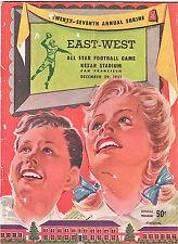 1951-SHRINE EAST-WEST ALL-STAR COLLEGE FOOTBALL(FRANK GIFFORD)-PROGRAM -XLNT