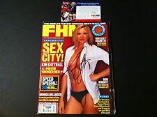 Kim Cattrall Sex And the City Signed Auto 2003 FHM Magazine Mag PSA/DNA COA