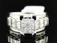 Ladies White Gold Princess Cut Diamond Engagement Wedding Bridal Ring Set 1 Ct