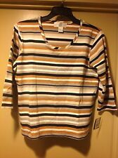Top Threads Sportswear Multi- Colred Striped Top Size XL -NWT