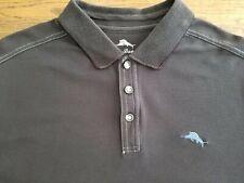TOMMY BAHAMA Blue MARLIN logo Men's short sleeve polo shirt Large