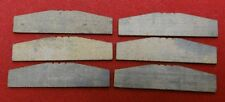 """Blade Rotor Vanes, Lot of 6, For Air Tools 1.5"""" Long, 3/8"""" Tall, 1/16"""" Thick"""