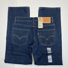 Boy's Levi's 550 Relaxed Fit Blue Jeans (91R550-259) Dark Wash - 14 Reg (27x27)