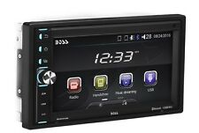 Car Stereo System Bluetooth Touchscreen 6.5 Inch Double Din Digital LCD Boss