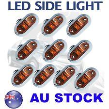10X Amber Side Light LED Marker Chrome base Trailer Clearance ABS DOT12V AU ship