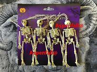 4 Realistic Evil 3D Hanging Skeletons Fake/Prank/Halloween