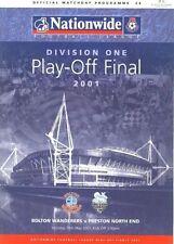 Division 1 Final Football League Fixture Programmes