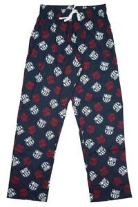 Mens Official Barcelona FCB Football Lounge Pants Long Pyjama Bottoms S M L XL