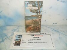 1985 Official Michigan MI Transportation Map Pictured Rock Cover  NICE