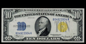 SC 1934A $10 (( NORTH AFRICA)) Silver Certificate (( HIGHER GRADE EXAMPLE))